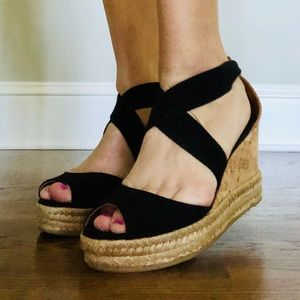 🔥XTRA 30%🔥 7.5 Tory Burch Espadrille Wedges